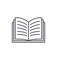 open book line icon concept open book vector image vector image