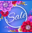 origami spring sale flowers banner paper cut vector image