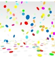 Party Background With a Colorful Confetti Stock vector image vector image