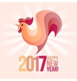 pink rooster vector image vector image