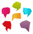 polygon speech bubbles vector image
