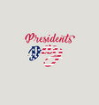 presidents day hand lettering in usa with american vector image vector image