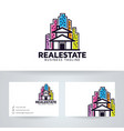 retro real estate logo design vector image vector image