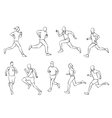 running set vector image vector image