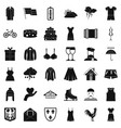 season clothes icons set simple style