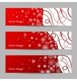 set 3 winter banners vector image vector image