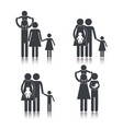 set pictogram family together with son vector image