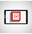 smartphone technology e-learning e-book vector image