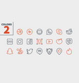 social media ui pixel perfect well-crafted vector image vector image