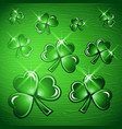 st patricks day border background vector image