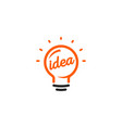 stylized sign of lightbulbs white and vector image vector image