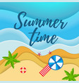 summer holiday camp poster vector image