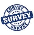 survey blue grunge round vintage rubber stamp vector image vector image
