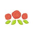 Three red roses logo design template