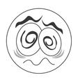 traumatized face emoticon icon vector image vector image