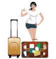 Traveling Girl2 vector image vector image