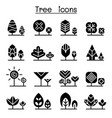 tree icon set graphic design vector image vector image
