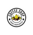 vintage coffee shop logo designs inspiration vector image vector image