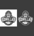 vintage gorillas baseball club logotype vector image vector image