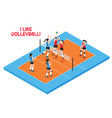 volley ball isometric vector image