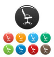 wheelchair icons set color vector image vector image