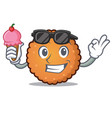 with ice cream cookies character cartoon style vector image