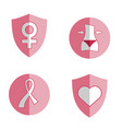 women health icon vector image