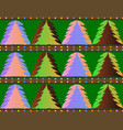 xmas tree pattern texture vector image vector image