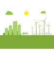 cityscape ecology vector image