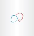 stethoscope icon design element vector image