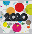 2020 colorful background creative design vector image vector image