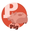 ABC Cartoon Pig vector image