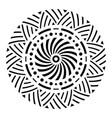 abstract circular ornament ethnic mandala vector image vector image
