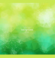 abstract green light geometric polygonal vector image vector image