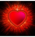 Abstract Heart Burst Background EPS 8 vector image vector image