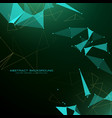 abstract triangle poly background in futuristic vector image vector image