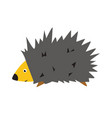 adorable hedgehog in modern flat style cartoon vector image