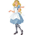 alice extremely confused vector image vector image