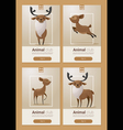 Animal banner with Deers for web design 1 vector image vector image