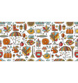 autumn collection seamless pattern for your vector image vector image