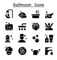 bathroom icon set graphic design vector image