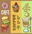 beautiful hand drawn coffee vector image
