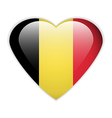 Belgium flag button vector image vector image