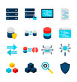 big data objects vector image