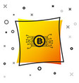 Black cryptocurrency concept bitcoin in circle