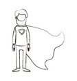 blurred silhouette caricature faceless full body vector image vector image