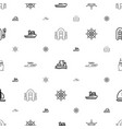 boat icons pattern seamless white background vector image vector image
