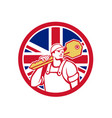 british locksmith union jack flag icon vector image vector image