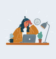 business woman tiered vector image vector image
