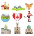 Canadian Culture Symbols Set vector image
